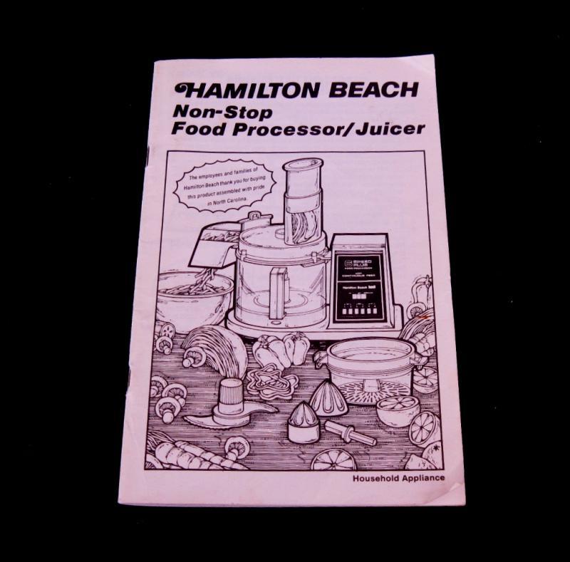 hamilton beach food processor 70730 manual