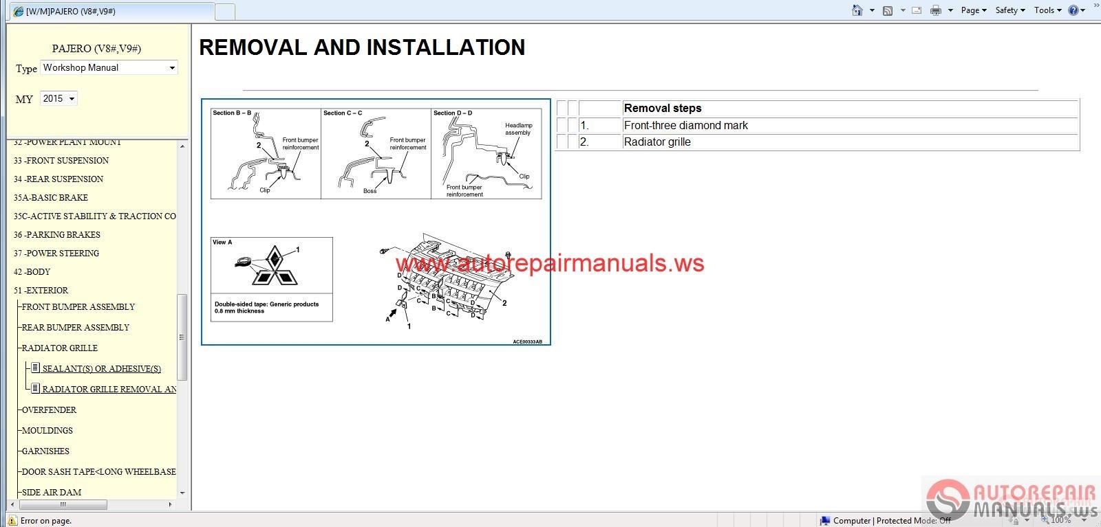 mitsubishi mirage 2013 service manual pdf