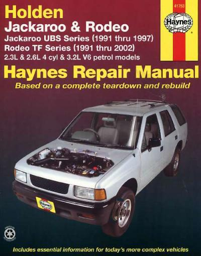 1990 holden rodeo workshop manual