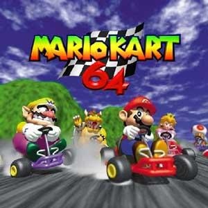 mario kart 64 box and manual