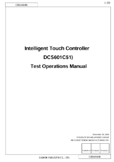 daikin intelligent touch controller operation manual