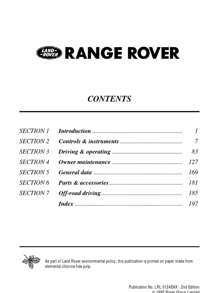 range rover p38 workshop manual pdf free download