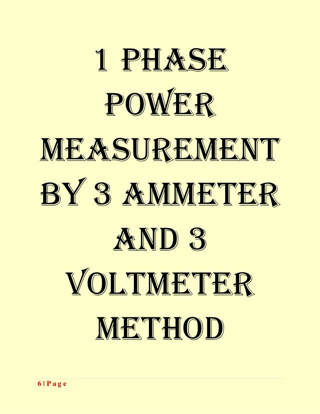 power measurement by two wattmeter method lab manual