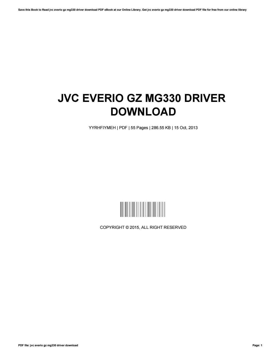 jvc everio gz mg330 manual pdf
