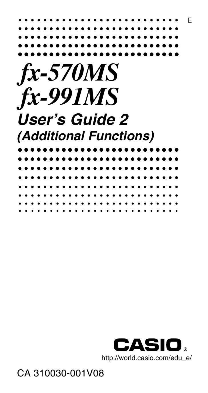 casio fx 991ms user manual