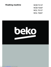 beko washing machine instructions manuals