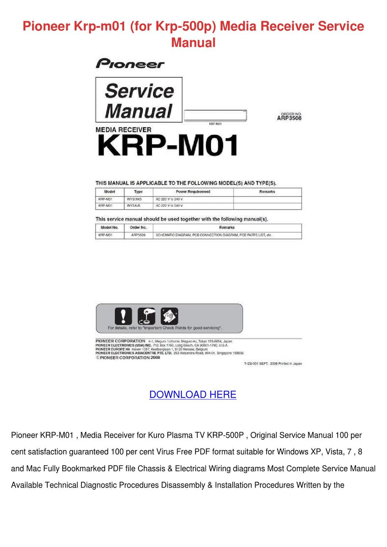 pioneer plasma tv manual pdf