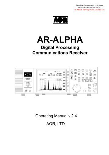 unication alpha elite pager manual