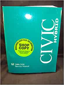 2008 honda civic hybrid repair manual