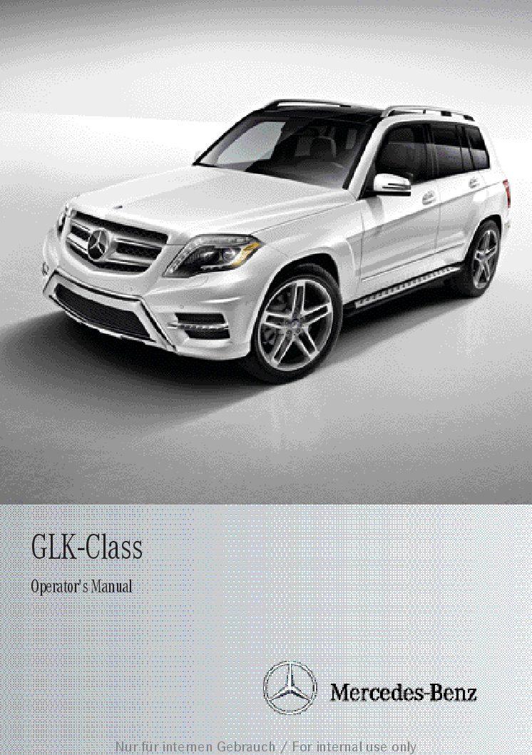 2012 glk 350 owners manual
