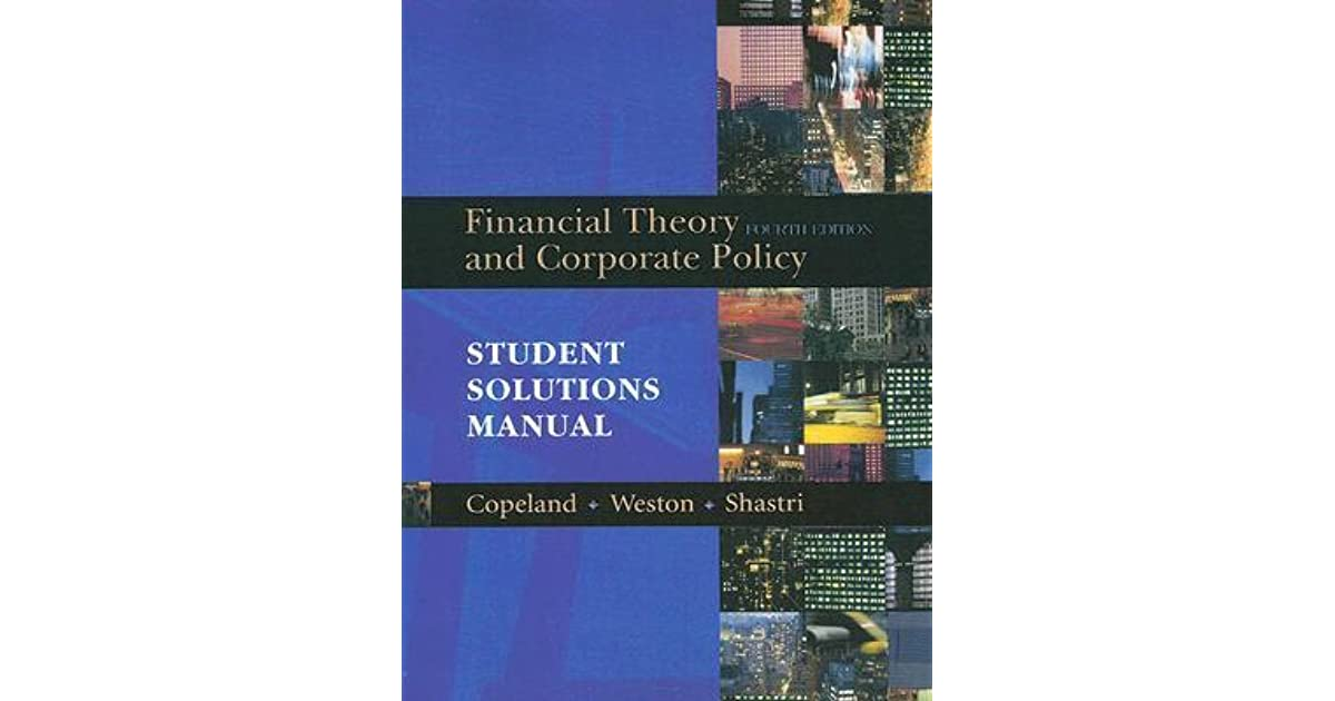 financial theory and corporate policy solution manual pdf