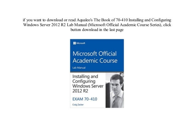installing and configuring windows server 2012 r2 lab manual pdf