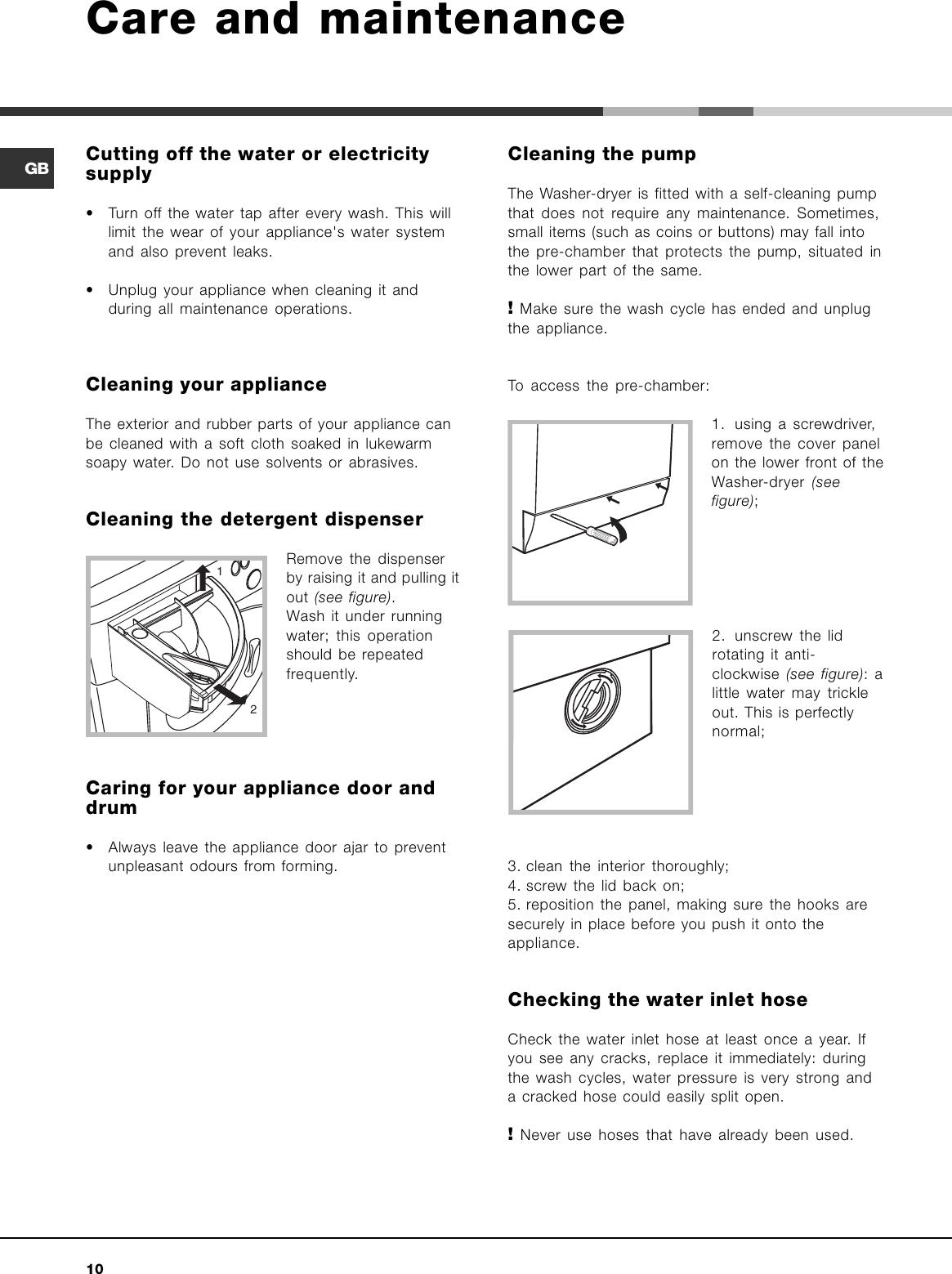 ariston arxf 125 user manual