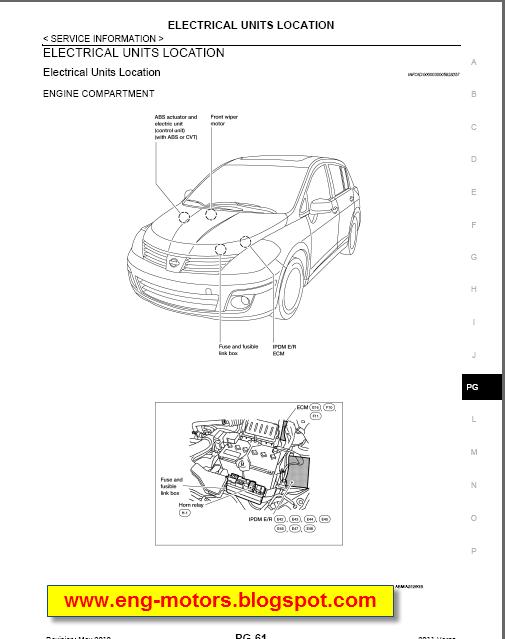 nissan tiida 2005 service manual