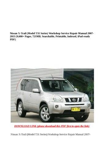 nissan x trail t31 owners manual pdf