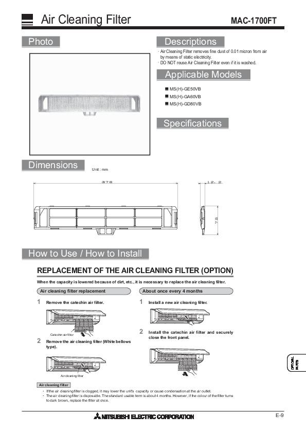 mitsubishi air conditioning unit manual