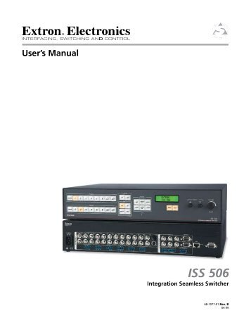 extron iss 506 switcher manual
