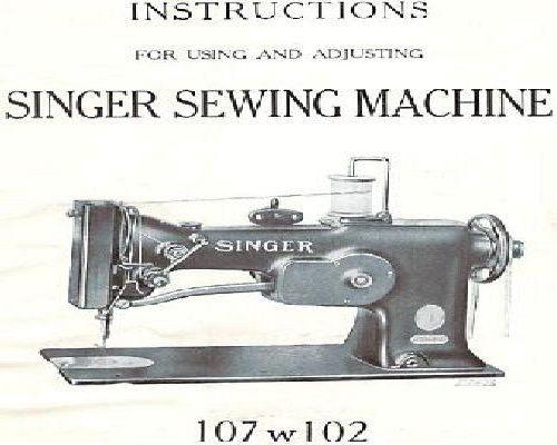 singer industrial sewing machine manual