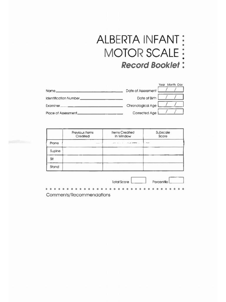 alberta infant motor scale manual