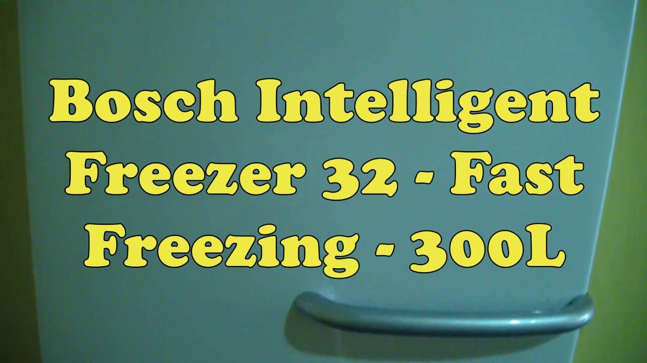 bosch intelligent freezer 32 manual