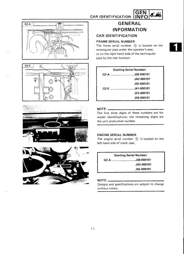 g9 yamaha golf cart manual
