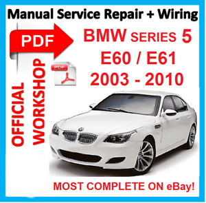bmw 5 series e60 e61 service manual 2004 2010