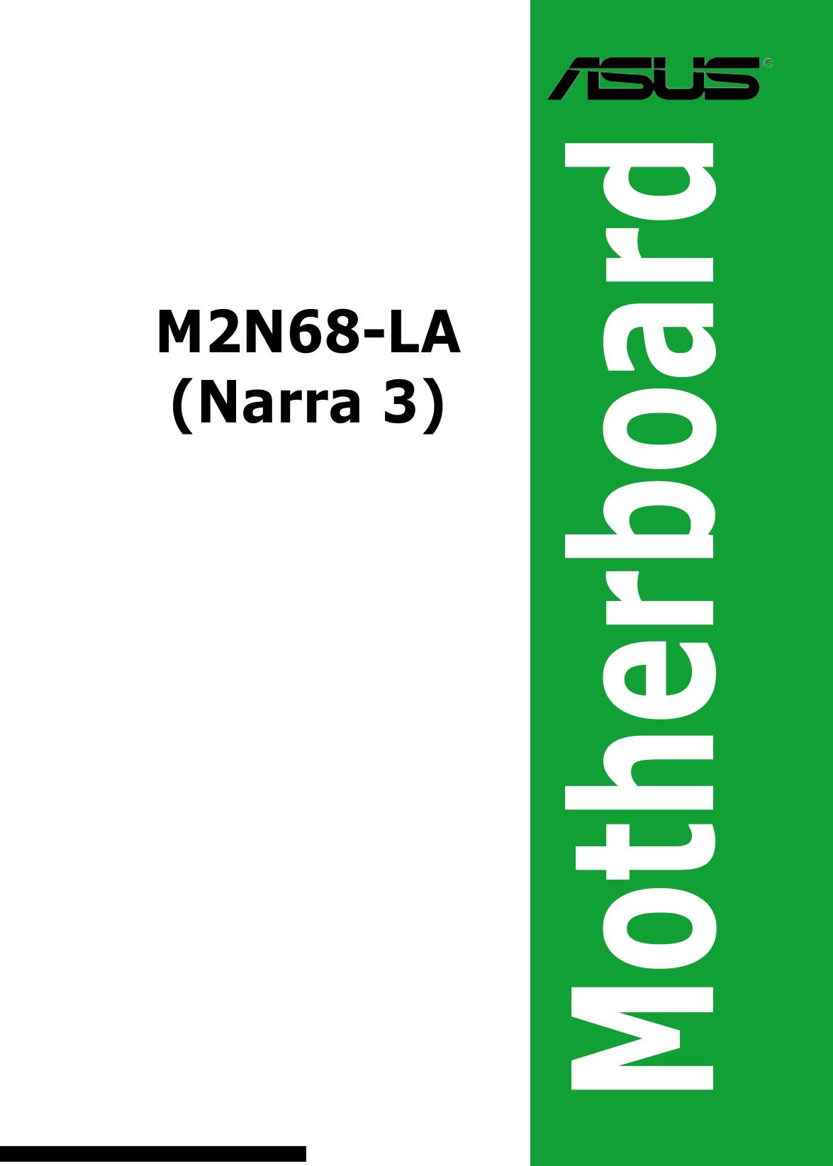 m2n68 la narra2 motherboard manual