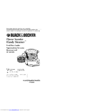 black and decker handy steamer hs800 manual