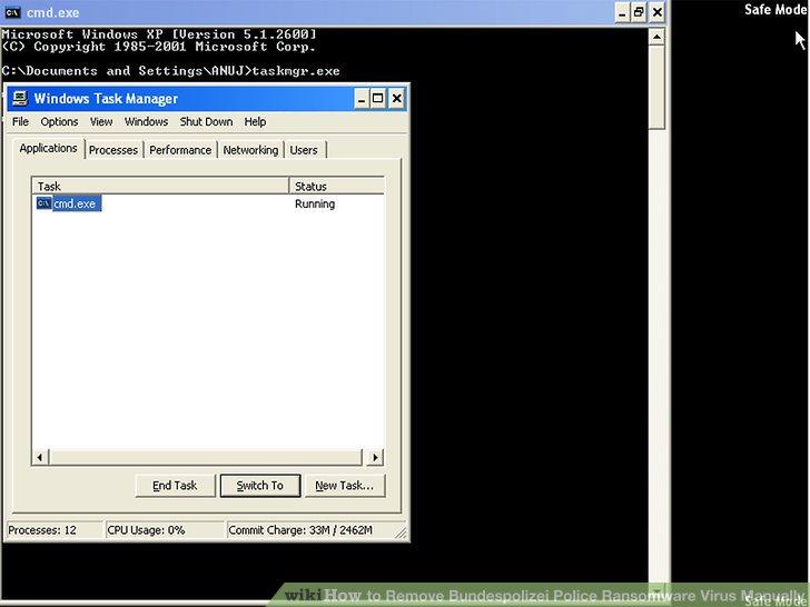 how to remove folder exe virus manually