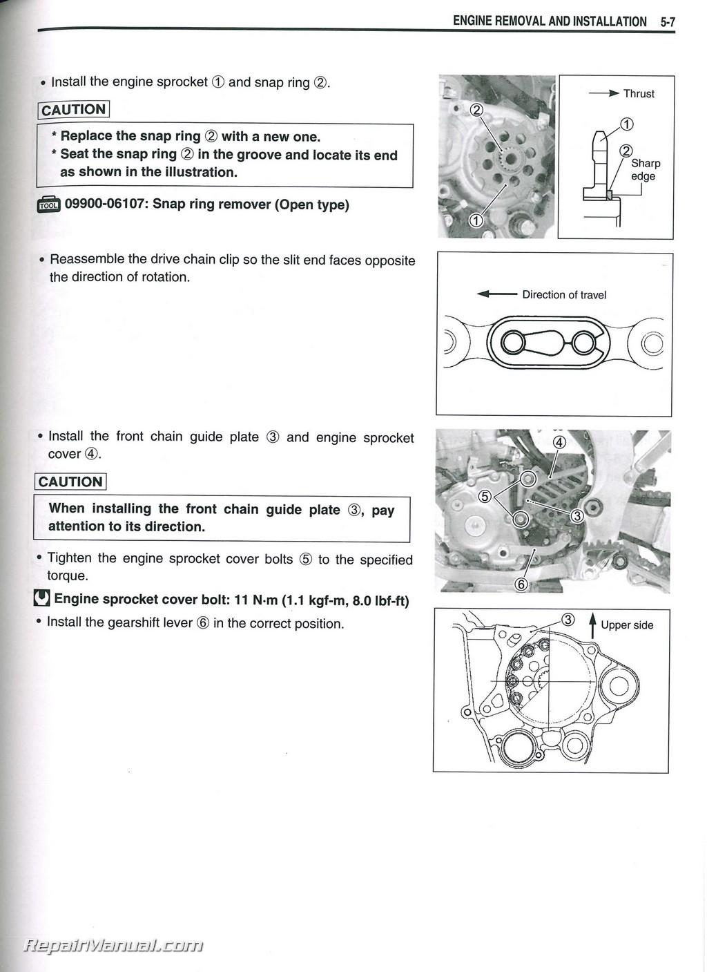 suzuki rmz 250 service manual 2010
