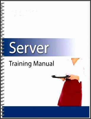 restaurant training manual template free