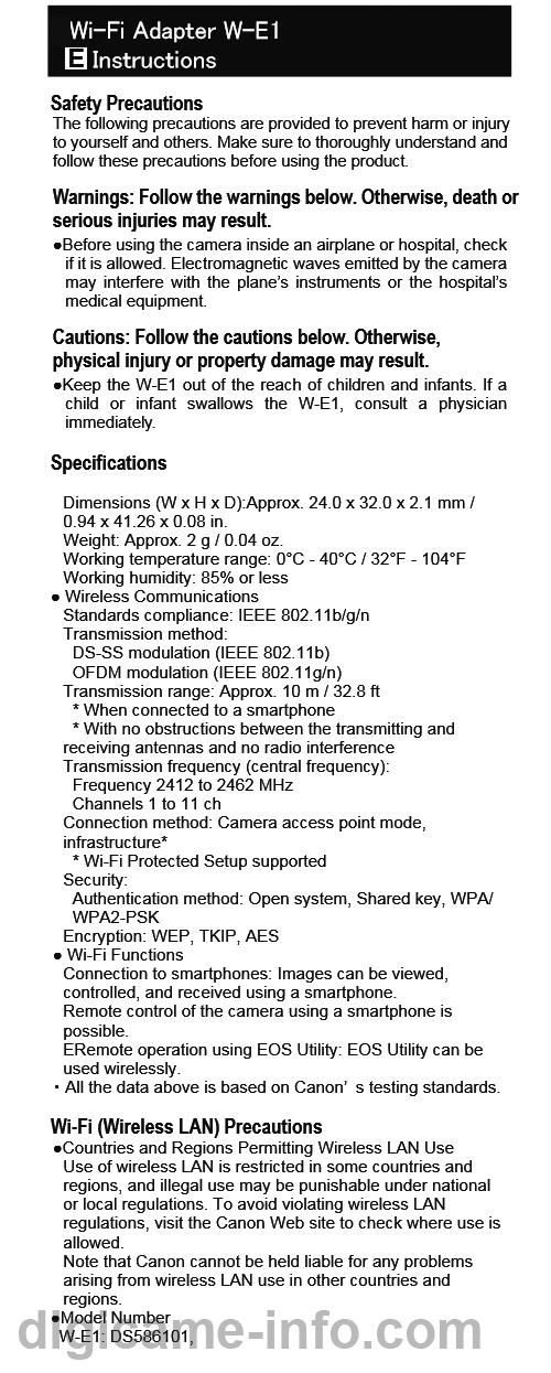 canon 7d mark ii wifi adapter manual