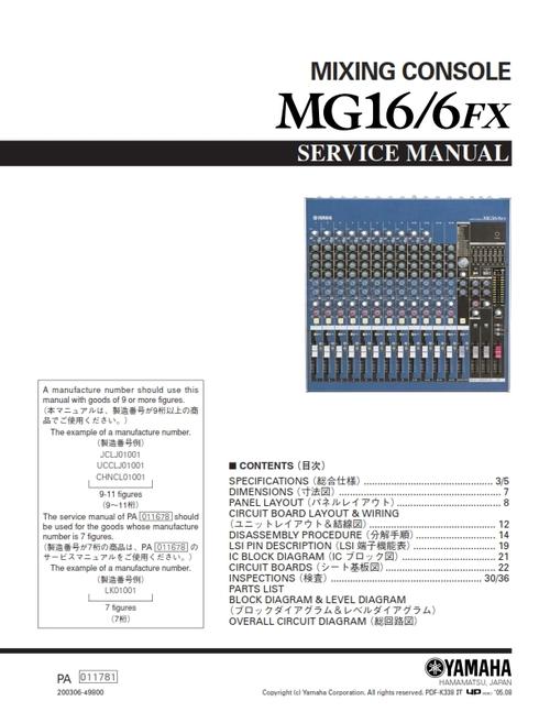 yamaha mg16 6fx manual pdf