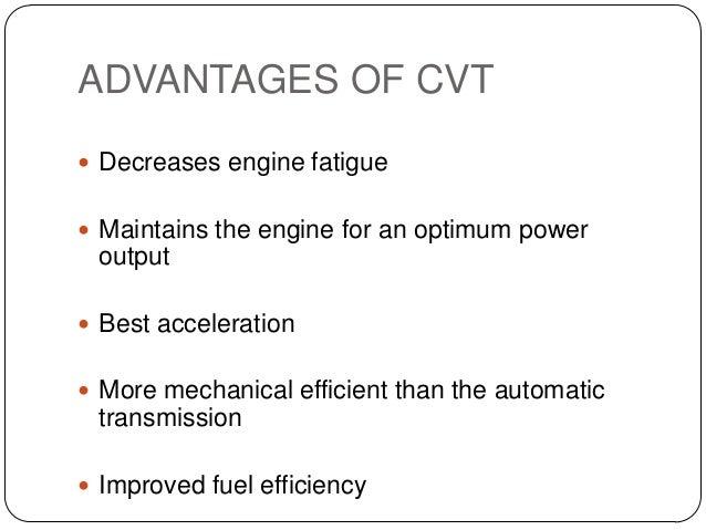 cvt vs manual transmission fuel efficiency