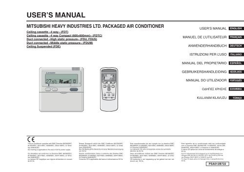 mitsubishi daiya packaged air conditioner manual