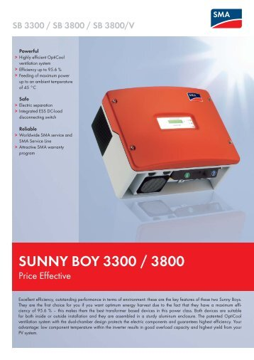 sunny boy 5000tl user manual