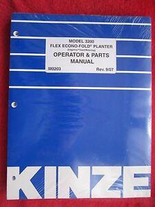 kinze 2000 planter parts manual