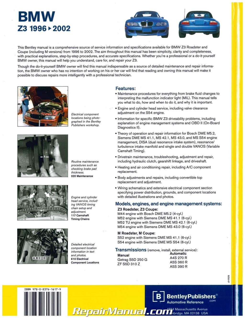 bmw z3 repair manual free