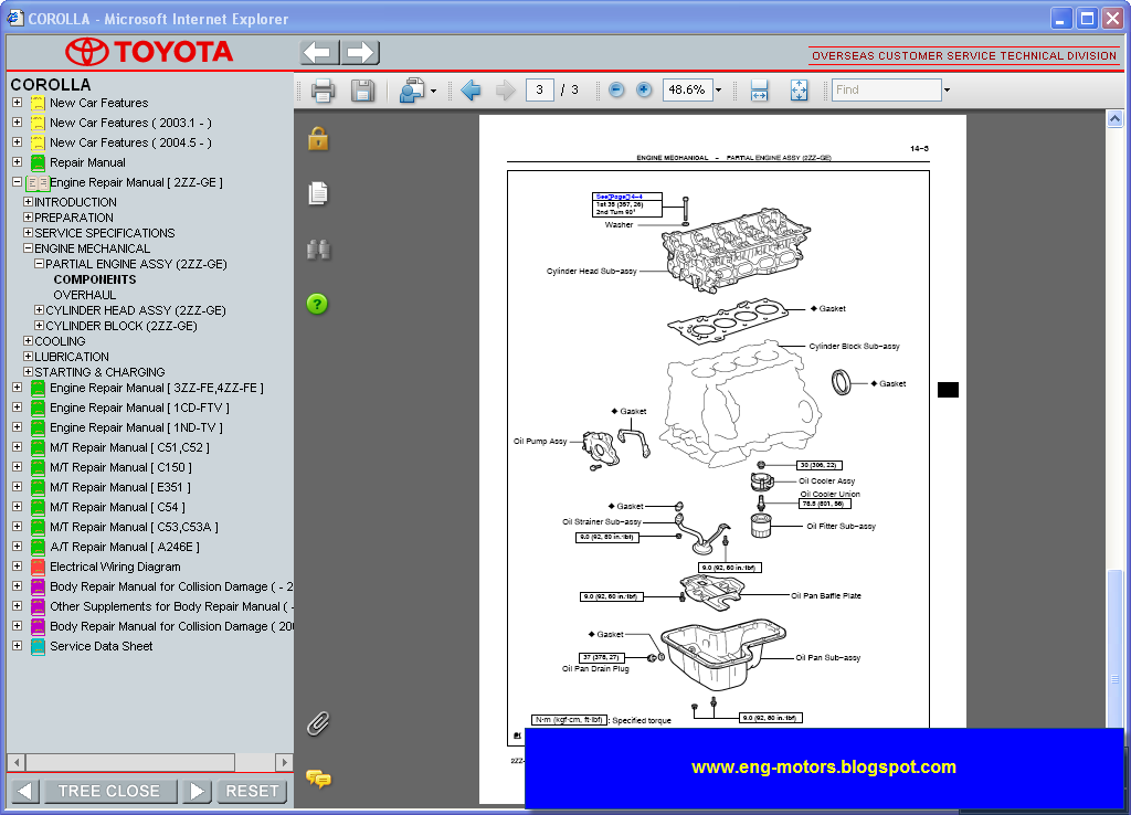2013 toyota corolla service manual