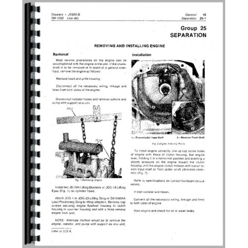 john deere model a service manual