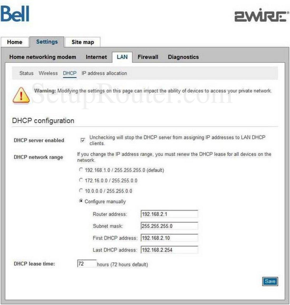 bell home hub 2000 manual