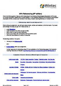 apa referencing manual 6th edition pdf