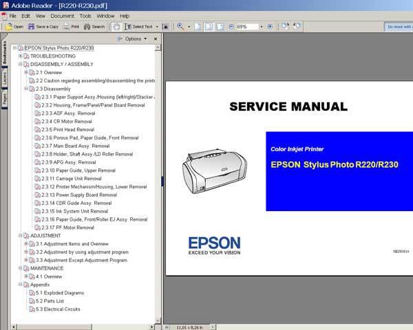 epson stylus photo r800 manual