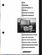 bose acoustimass 16 series ii manual