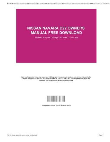 nissan navara d40 service manual free download