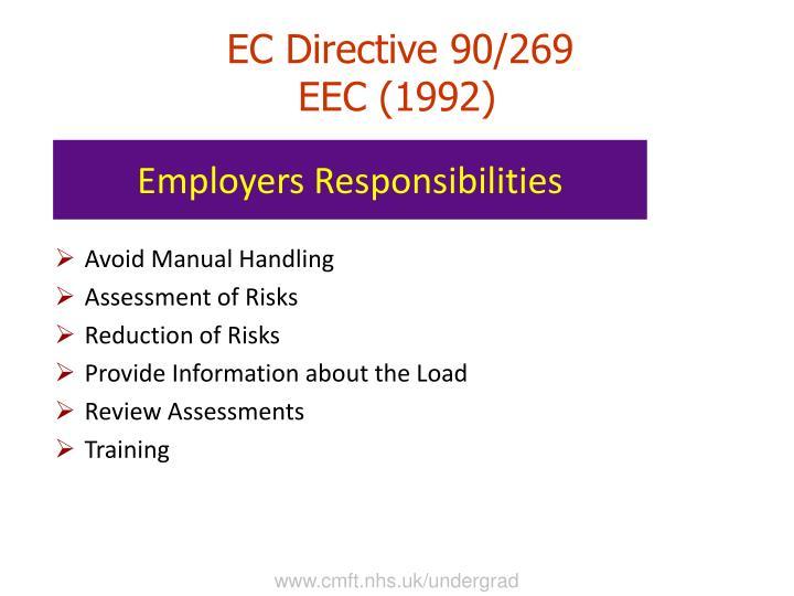 manual handling operations regulations 1992 summary