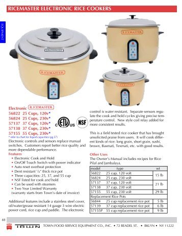 breville rice master user manual