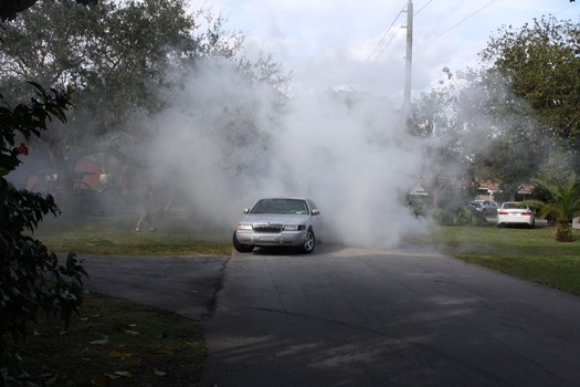 how to do a burnout in a manual