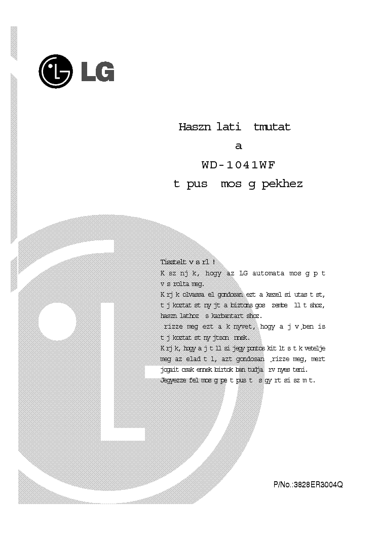 lg wd 8015c manual download