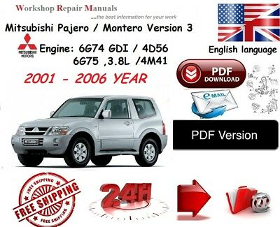 mitsubishi pajero 2006 owners manual